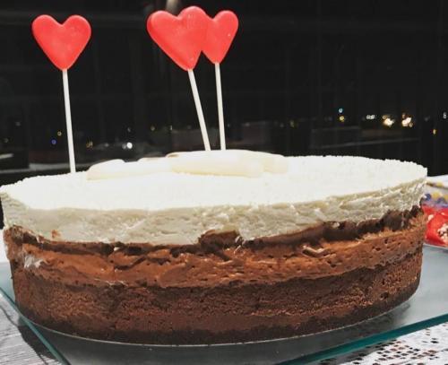Bolo torta 3 chocolates