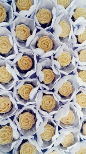 Rosas de brigadeiro branco