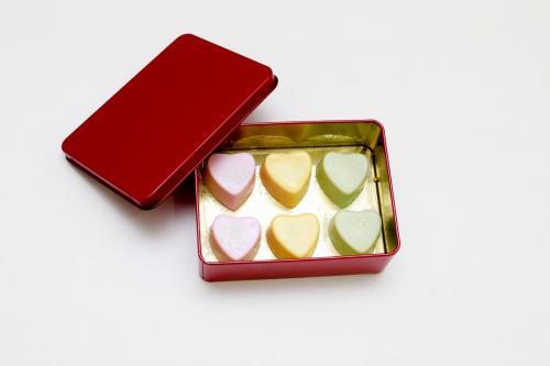 Caixa bombons de coração